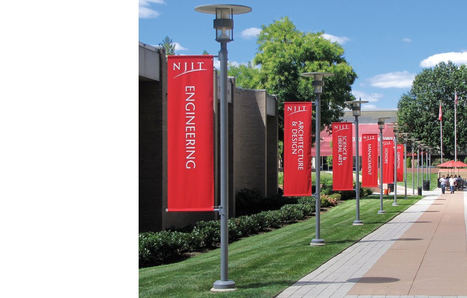"""NJIT """"Six Colleges"""" banners"""